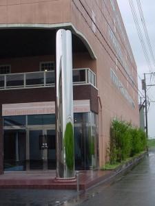 ステンレス製玄関柱巻き